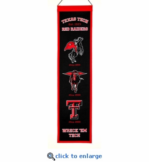 Texas Tech Red Raiders Heritage Wool Banner (8 x 32)