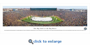 The Big Chill At The Big House Hockey - Michigan and Michigan State - Panoramic Photo (13.5 x 40)