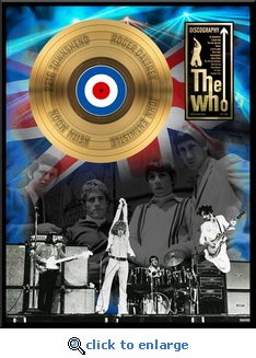 The Who - Discography Framed Gold Record, LE 2,500