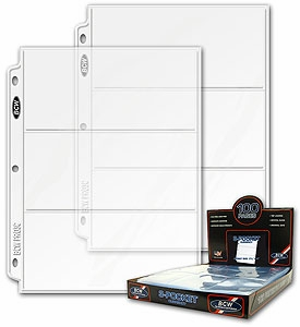 Ticket / Collectible Pages - Combo Box - 100 Pages