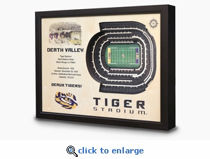 Tiger Stadium 3-D Wall Art - LSU Tigers Football
