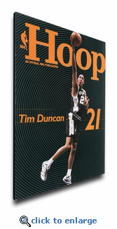 Tim Duncan 2002 NBA Game Program Cover on Canvas - San Antonio Spurs