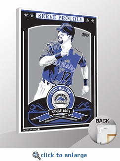Todd Helton Sports Propaganda Canvas Print - Rockies