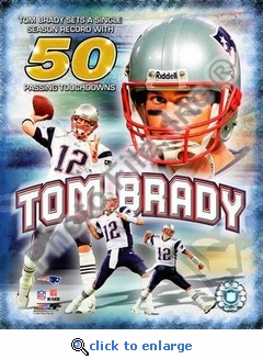 Tom Brady 50 TDs Portrait Plus 8x10 Photo