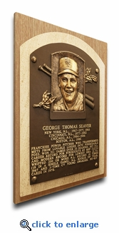 Tom Seaver Baseball Hall of Fame Plaque on Canvas - New York Mets
