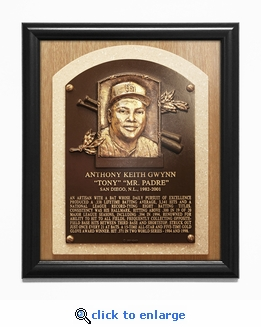 Tony Gwynn Baseball Hall of Fame Plaque Framed Print - San Diego Padres