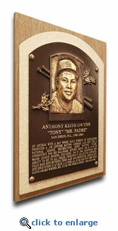 Tony Gwynn Baseball Hall of Fame Plaque on Canvas - San Diego Padres