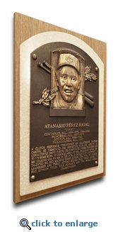 Tony Perez Baseball Hall of Fame Plaque on Canvas - Cincinnati Reds