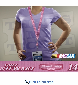 Tony Stewart NASCAR Lanyard and Ticket Holder - Pink