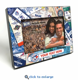 Toronto Blue Jays Personalized Ticket Collage Black Wood Edge 4x6 inch Picture Frame