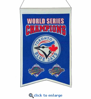 Toronto Blue Jays World Series Champions Wool Banner (14 x 22)