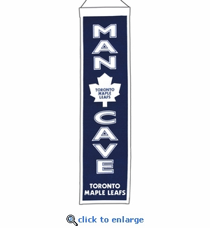 Toronto Maple Leafs Man Cave Wool Banner (8 x 32)