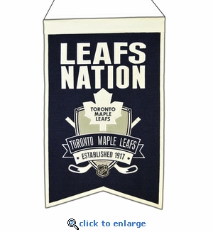 Toronto Maple Leafs Nations Wool Banner (14 x 22)