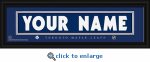 Toronto Maple Leafs Personalized Stitched Jersey Nameplate Framed Print