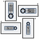 Toronto Maple Leafs Single Ticket Frame