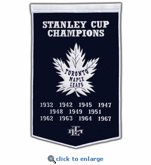 Toronto Maple Leafs Stanley Cup Dynasty Wool Banner (24 x 36)