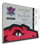 Toronto Raptors Inaugural Game Canvas Mega Ticket
