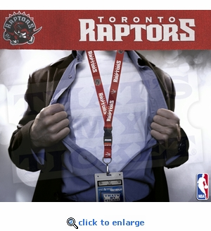 Toronto Raptors NBA Lanyard Key Chain and Ticket Holder - Red