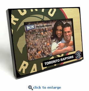 Toronto Raptors Black Wood Edge 4x6 inch Picture Frame