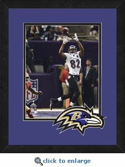 Torrey Smith/Baltimore Ravens Framed Super Bowl 47 Game Action Photo