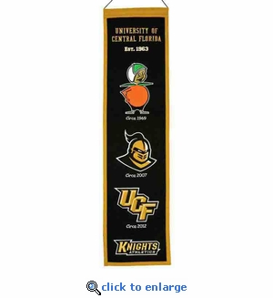 UCF Knights Heritage Wool Banner (8 x 32)