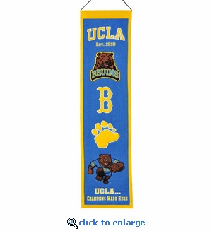 UCLA Bruins Heritage Wool Banner (8 x 32)