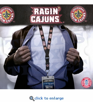 University of Louisiana at Lafayette Ragin Cajuns NCAA Lanyard Key Chain and Ticket Holder