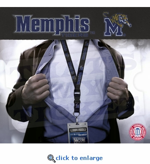 University of Memphis Tigers NCAA Lanyard Key Chain and Ticket Holder