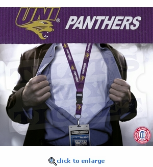 University of Northern Iowa Panthers NCAA Lanyard Key Chain and Ticket Holder