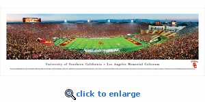 USC Trojans Football - 50 Yard Line - Panoramic Photo (13.5 x 40)