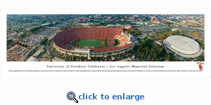 USC Trojans Football - Aerial - Panoramic Photo (13.5 x 40)
