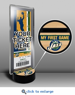 Utah Jazz My First Game Ticket Display Stand