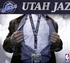 Utah Jazz NBA Lanyard Key Chain and Ticket Holder - Team Name Silver