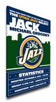 Utah Jazz Personalized Canvas Birth Announcement - Baby Gift