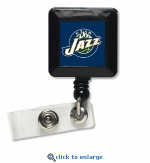 Utah Jazz Retractable Ticket Badge Holder