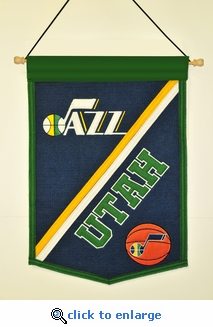 Utah Jazz Traditions Wool Banner (12 x 18)