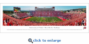 Utah Utes Football - Red Out - 50 Yard Line - Panoramic Photo (13.5 x 40)