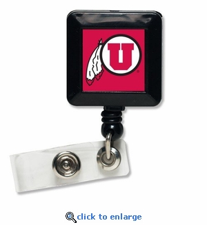 Utah Utes Retractable Ticket Badge Holder
