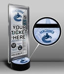 Vancouver Canucks Hockey Puck Ticket Display Stand