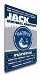 Vancouver Canucks Personalized Canvas Birth Announcement - Baby Gift