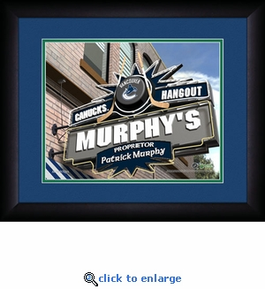 Vancouver Canucks Personalized Sports Room / Pub Print