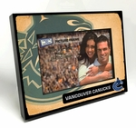 Vancouver Canucks Vintage Style Black Wood Edge 4x6 inch Picture Frame