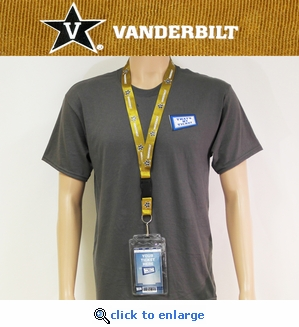 Vanderbilt Commodores NCAA Lanyard Key Chain and Ticket Holder