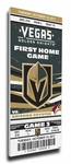 Vegas Golden Knights Commemorative First Home Game Canvas Mega Ticket