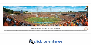 Virginia Cavaliers Football - 50 Yard Line - Panoramic Photo (13.5 x 40)