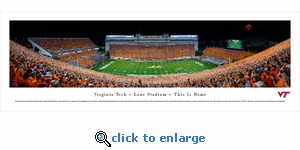 Virginia Tech Hokies - Football - 50 Yard Line - Panoramic Photo (13.5 x 40)