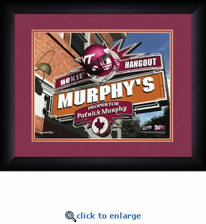 Virginia Tech Hokies Personalized Sports Room / Pub Print