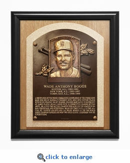 Wade Boggs Baseball Hall of Fame Plaque Framed Print - Boston Red Sox