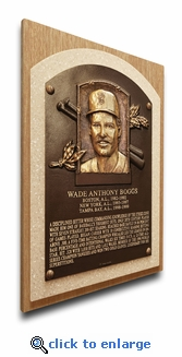 Wade Boggs Baseball Hall of Fame Plaque on Canvas - Boston Red Sox