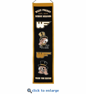 Wake Forest Demon Deacons  Heritage Wool Banner (8 x 32)